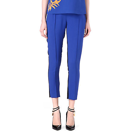 JONATHAN SAUNDERS Irma bi-colour crepe trousers (Blue/black