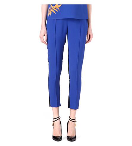 JONATHAN SAUNDERS Irma bi-colour crepe trousers (Blue/black