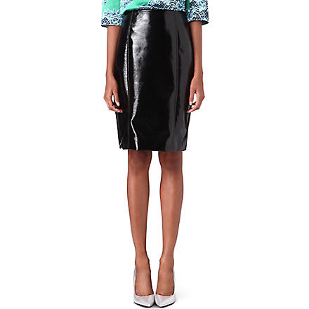 JONATHAN SAUNDERS Vinyl pencil skirt (Black