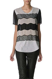 3.1 PHILLIP LIM Lace detail t-shirt