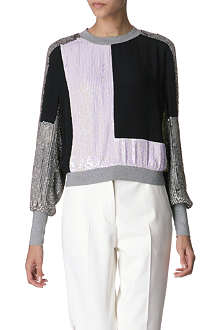 3.1 PHILLIP LIM Collage sequined jersey jumper
