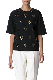 3.1 PHILLIP LIM Embellished stretch-crepe top