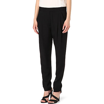 3.1 PHILLIP LIM Silk-twill trousers (Black