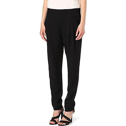 3.1 PHILLIP LIM Silk-twill trousers (Black