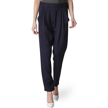 3.1 PHILLIP LIM Silk-twill trousers (Navy