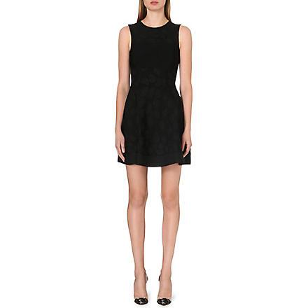 ISSA Bay lurex-spot dress (Black