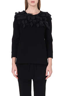 ISSA Betty bow-detail jersey top