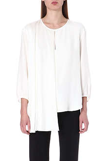 ISSA Cut-out detail silk top