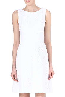 ISSA Broderie anglaise fitted dress