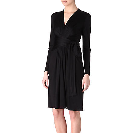 ISSA Silk-jersey dress (Black