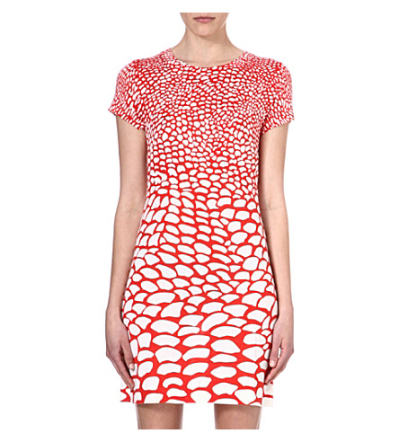 ISSA Pebble print dress (Orange