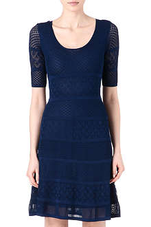 ISSA Patterned knitted dress