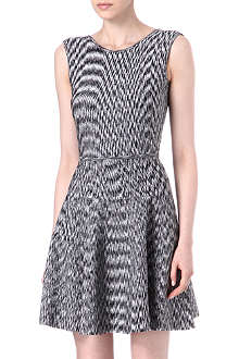 ISSA Sleeveless flare knitted dress
