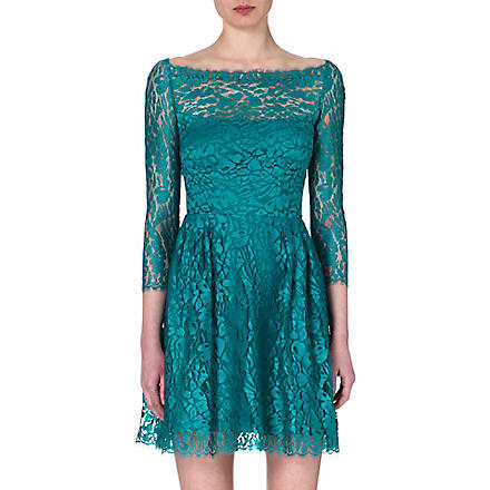 ISSA Lace dress (Turquoise