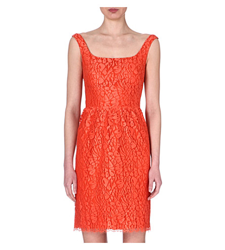 ISSA Lace dress (Orange