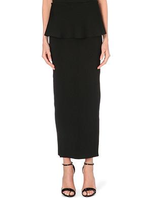 ISSA Edith peplum maxi skirt