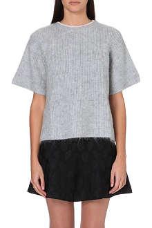 ISSA Mohair-blend knitted jumper