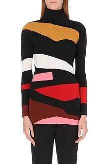 ISSA Elise patterned jumper