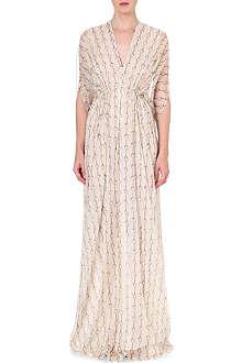 ISSA Goddess silk-blend kaftan