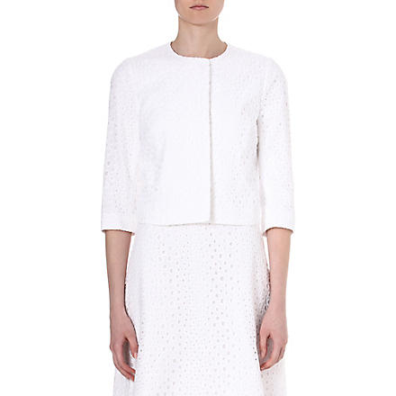 ISSA Broderie Anglaise jacket (White