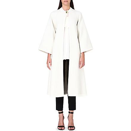 ISSA Joan wool-blend cape (Cream