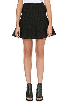 ISSA A-line polka dot mini skirt