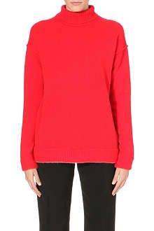 ISSA Funnel neck cashmere jumper