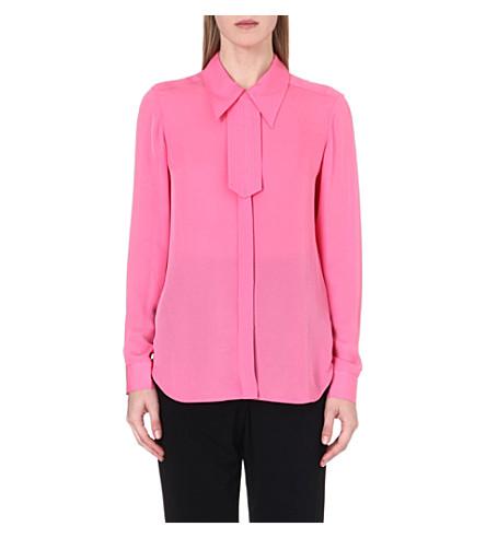 ISSA Classic silk shirt (Pink