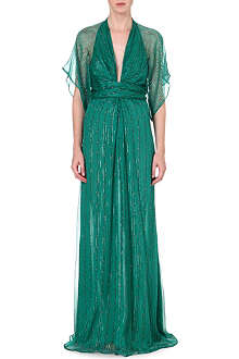 ISSA Pollyanna silk-blend gown