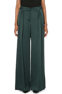 ISSA Sienna wide-leg silk-satin trousers