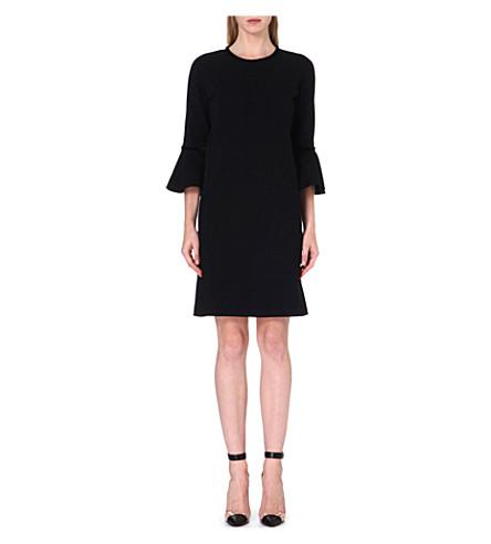 ISSA Sophie flared-cuff dress (Black