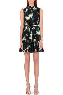 SALONI Tilly printed silk dress