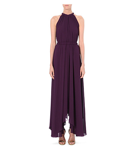 SALONI Irina crepe dress (Purple