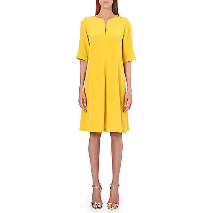 SALONI Dita silk dress (Yellow