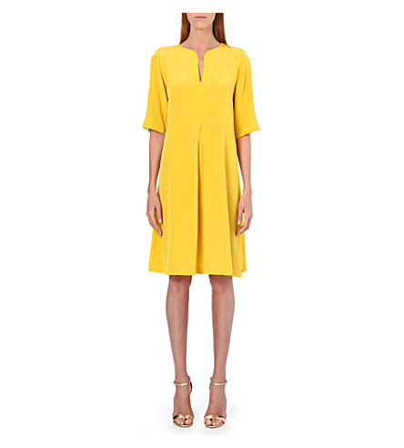 SALONI Dita silk dress (Yellow