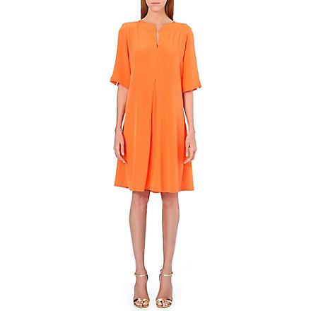 SALONI Dita silk dress (Orange
