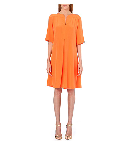 SALONI Dita silk dress (Orange