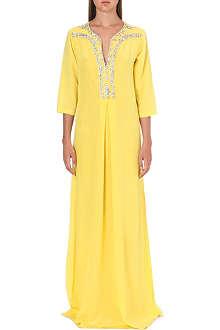 SALONI Joanna silk kaftan gown
