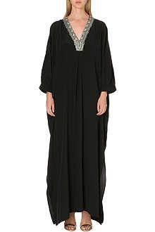 SALONI Zadie silk kaftan gown