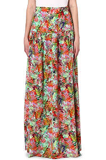 SALONI Jungle print maxi skirt