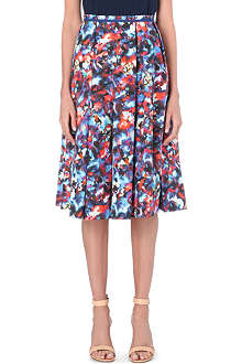 SALONI Bettina printed midi-skirt