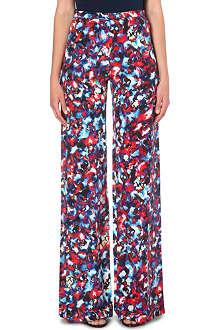 SALONI Wide-leg silk trousers