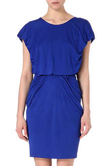 SALONI Ruched jersey dress