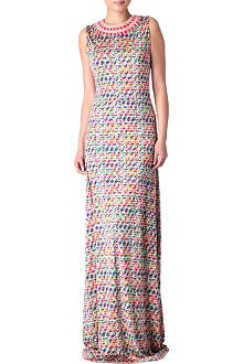 SALONI Printed maxi dress