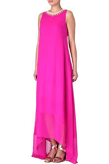 SALONI Silk-chiffon maxi dress