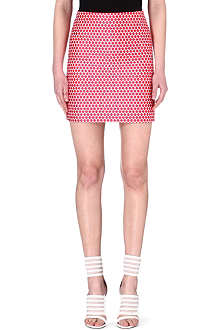 SALONI Geometric mini skirt