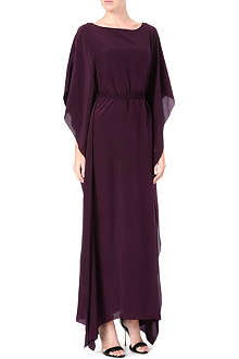 SALONI Silk-chiffon kaftan dress