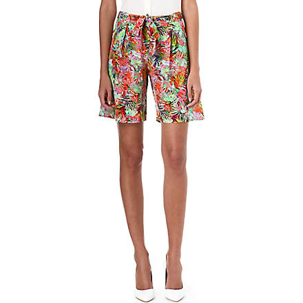 SALONI Loretta silk shorts (Jungle