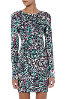 SALONI Lula printed jersey dress