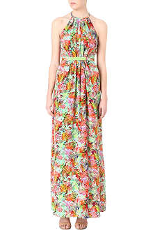 SALONI Floral halterneck dress